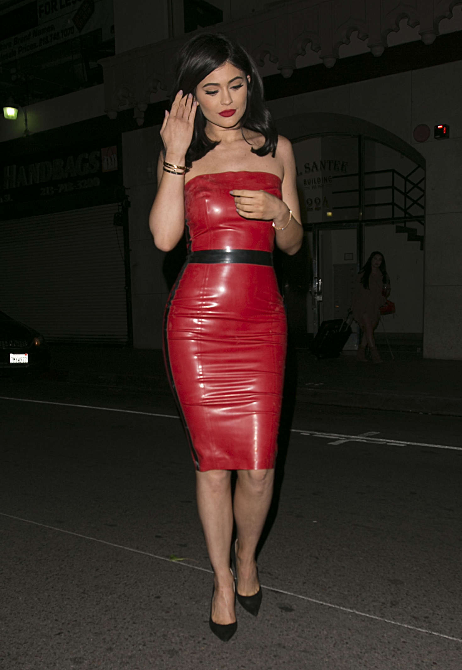 Kylie Jenner in Red Tight Dress