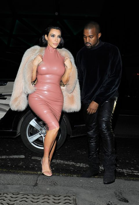 Kylie jenner Pink latex dress