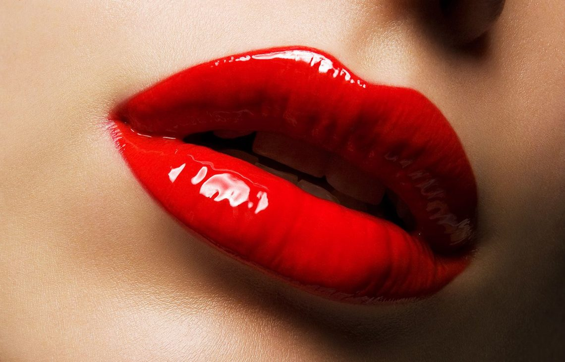 Red big lips
